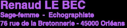 Renaud Le Bec - Sage-femme - Echographiste